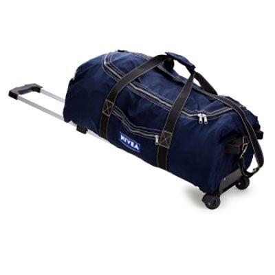 Super Brindes - Bolsa de viagem com carrinho em nylon amassado