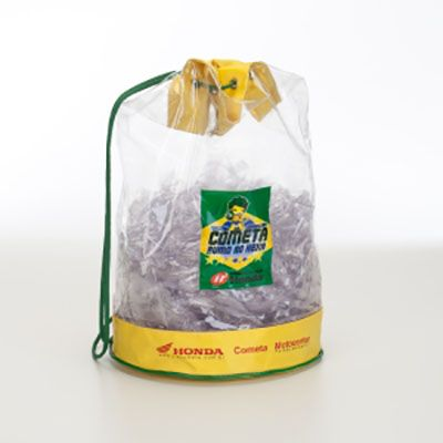 Super Brindes - Saco mochila em pvc cristal soldado, dim.36x25cm